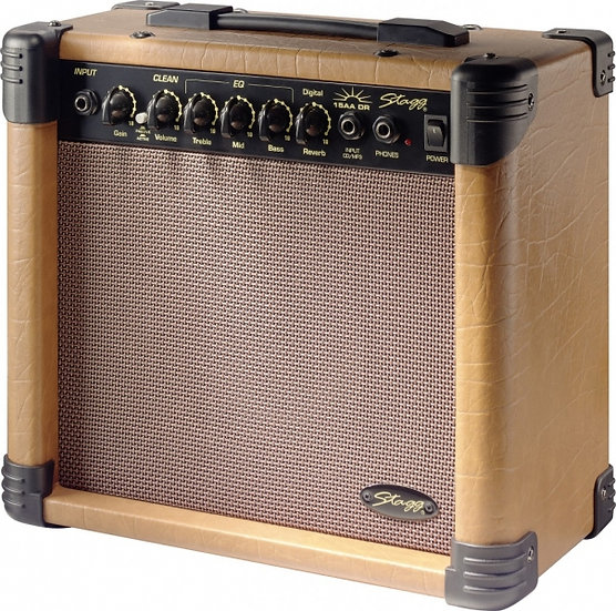 Combo Guitarra Acústica Stagg - 15 AA DR EU