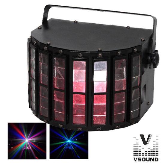 Projetor Luz C/ LED RGB Six Derby DMX VSOUND LEDSD1