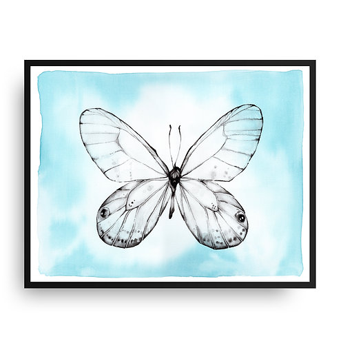 Butterfly Watercolor Art Print