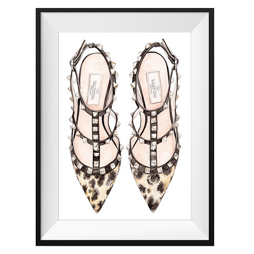 Valentino Leopard Heels Art Print