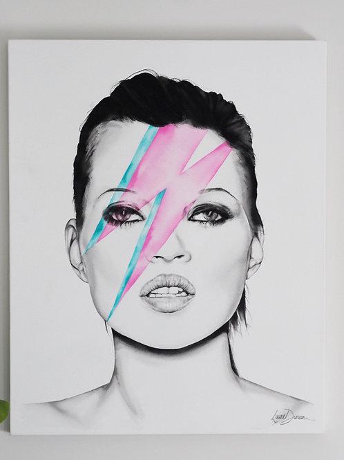 Kate Moss X Ziggy Stardust ORIGINAL PAINTING