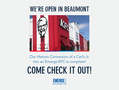 Carls Jr. Conversion: A Historic Transformation Delivers a New KFC to Beaumont, TX