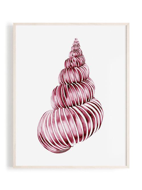 'Ocean Swirl' Art Print (Magenta)