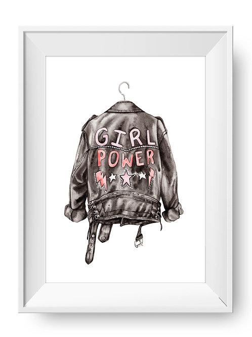 Biker Babe Art Print