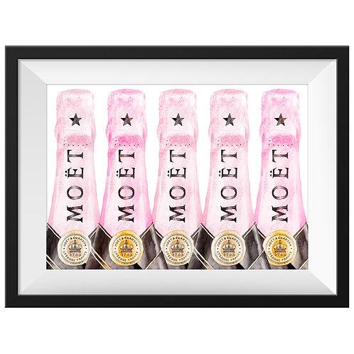 Moët Pink Champagne Art Print