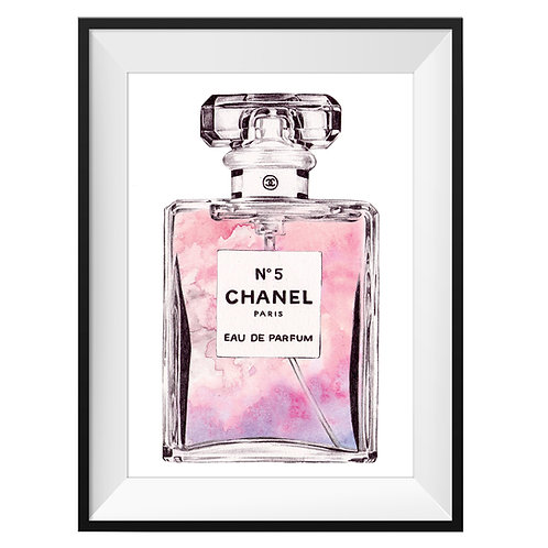 Chanel No.5 Art Print - Pink
