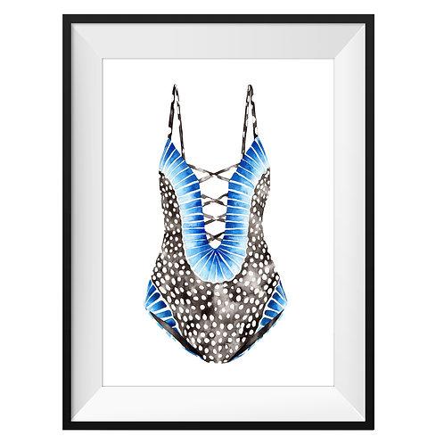 Boho Summer Swimsuit Art Print