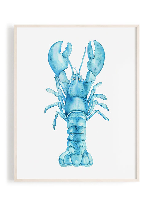 'Majestic Lobster' Art Print (Turquoise)