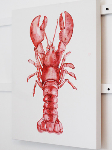 'Majestic Lobster' Watercolor Painting