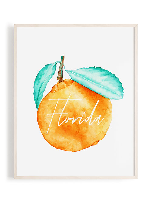 'Florida Orange' Art Print