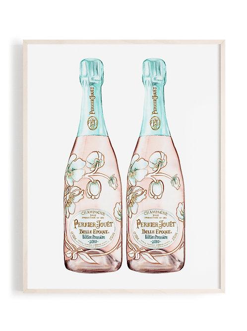 Vintage Perrier Jouet Champagne Art Print