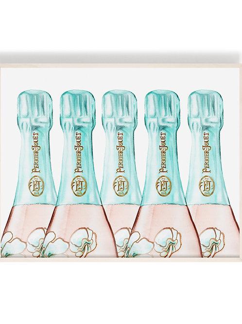 Vintage Perrier Jouet Champagne (Landscape) Art Print