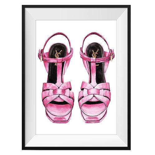 YSL Pink Heels Art Print