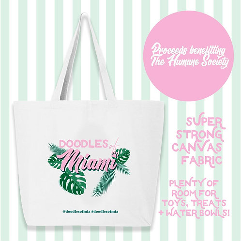 Doodles of Miami Large Tote Bag