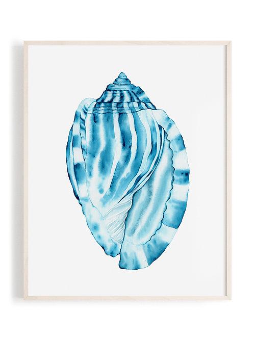 'Striped Bonnet' Art Print