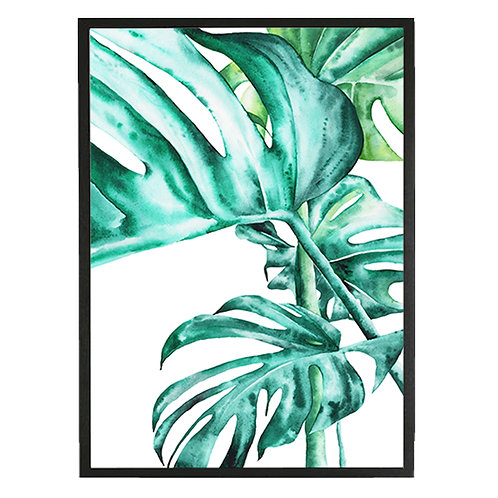 Tropical Botanicals Watercolor Art Print