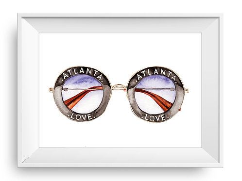 Atlanta LOVE Sunglasses Art Print