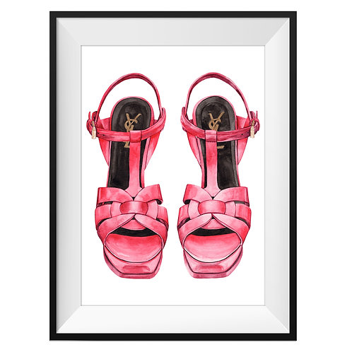 YSL Red Heels Art Print