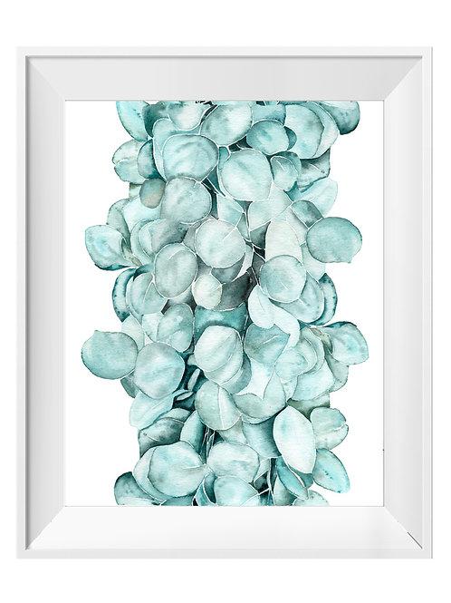 Eucalyptus Watercolor Art Print