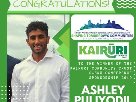 Kairūri Community Trust S+SNZ Conference Sponsorship 2019 Result