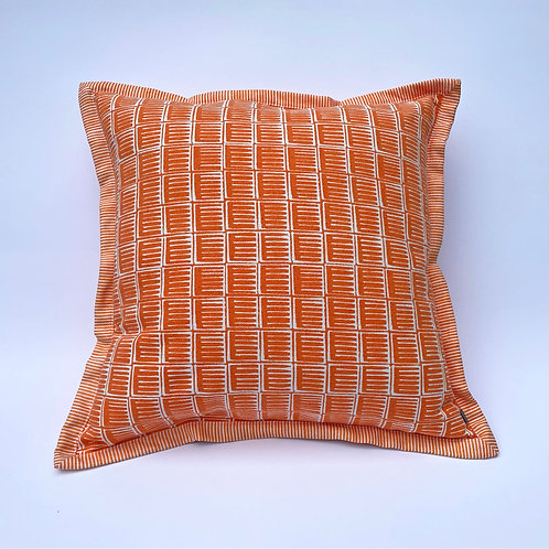 Orange Inky Cushion
