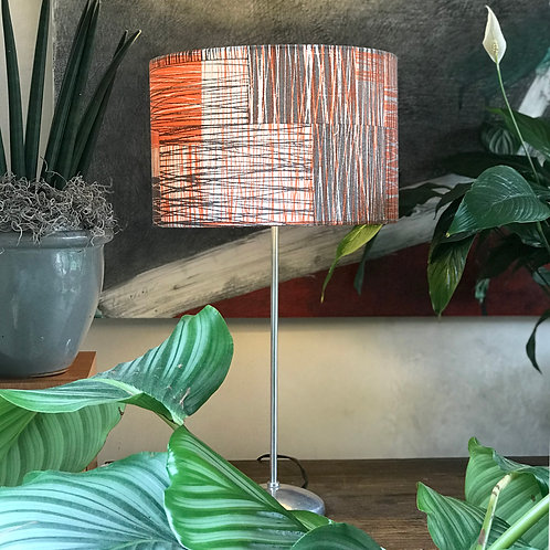 Scratch lampshade in grey and orange