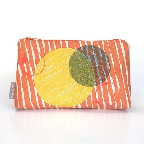 Orange blue and yellow print