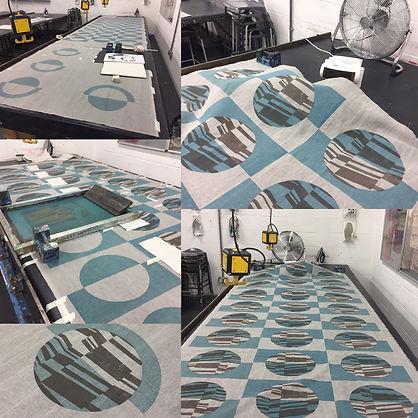 Printing window seat fabric by hand