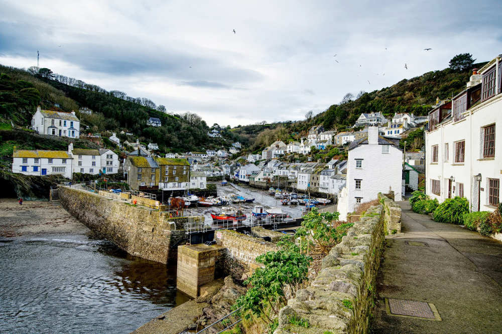 Polperro on a dull winter's day
