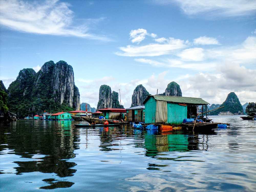Floating Village in Halong Bay Vietnam