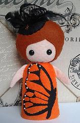 Monarch Butterfly felt girl pattern