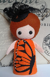 Monarch Butterfly felt girl pattern