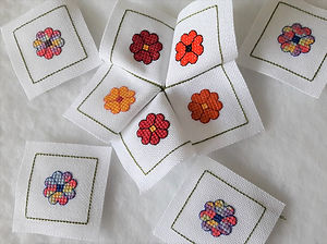 15 sided biscornu pincushion