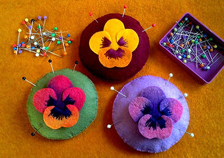 Pansy Pincushion pattern