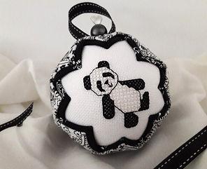 Panda cross stitch pattern by Cherry Parker