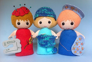 Felt Girls who love to sew