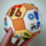 Alphabet Button Cross Stitch Ball