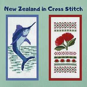 Marlin and Pohutukawa cross stitch pattern