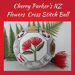 Quaker Ball - NZ Flowers cross stitch patetrn