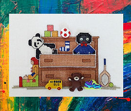 Toy Drawer 3 dimensional cross stitch pattern