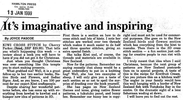 Review of Kiwi Cross Stitch book