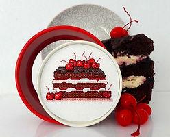 Black Forest Cake cross stitch design by Cherry Parker