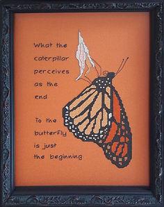 Monarch Butterfy cross stitch pattern