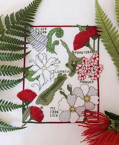 New Zealand native Flowers cross stitch pattern