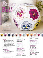 Cherry Parker's cross stitch pansy ball