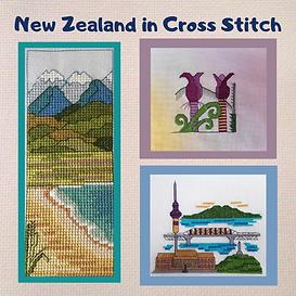 Nikau Palm and Mountains to teh Sea New Zeakand cross stitch pattern