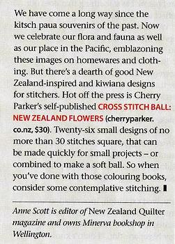 description of NZ Flowers Cross Stitch Ball