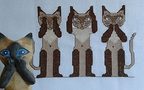 see no evil cross stitch pattern