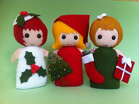 Felt Girls who love Christmas