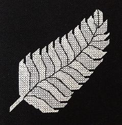 New Zealand Silver Fern cross stitch pattern